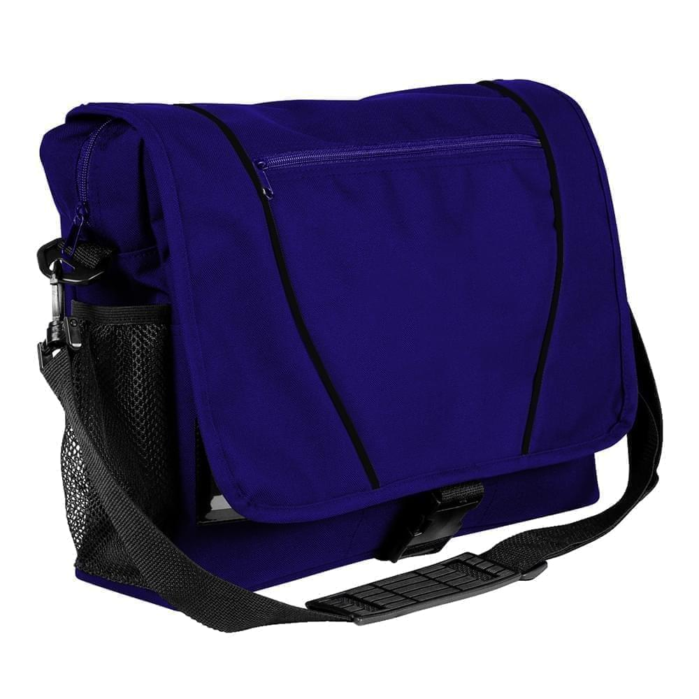 USA Made Nylon Poly Shoulder Bike Bags, Purple-Black, 9001197-AYR