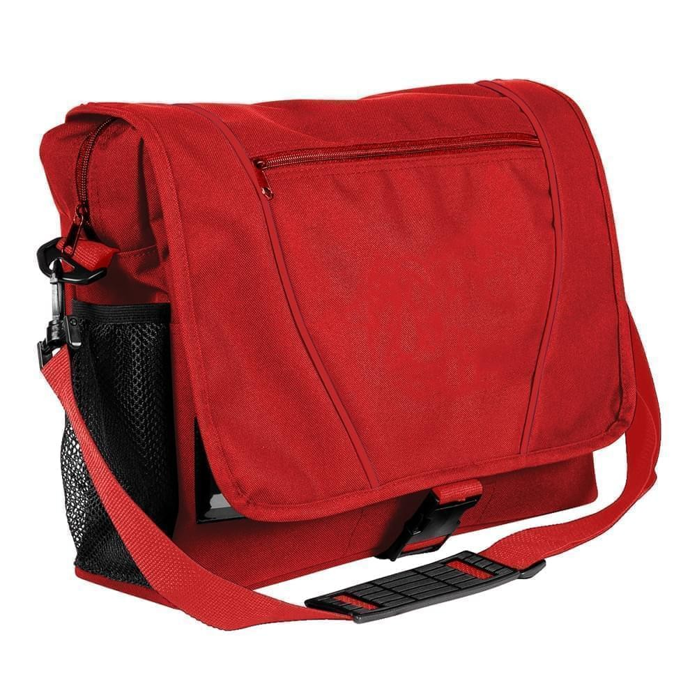 USA Made Nylon Poly Shoulder Bike Bags, Red-Red, 9001197-AZ2