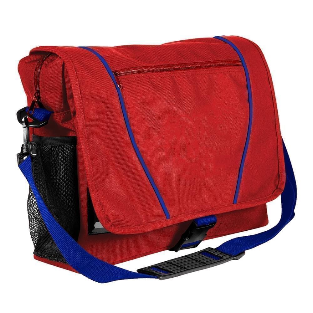 USA Made Nylon Poly Shoulder Bike Bags, Red-Royal Blue, 9001197-AZ3