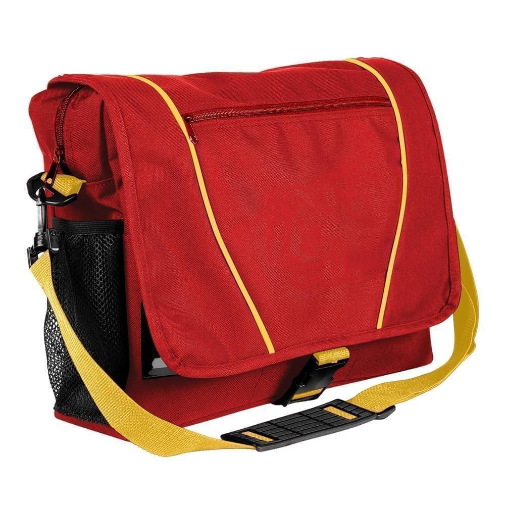 USA Made Nylon Poly Shoulder Bike Bags, Red-Gold, 9001197-AZ5