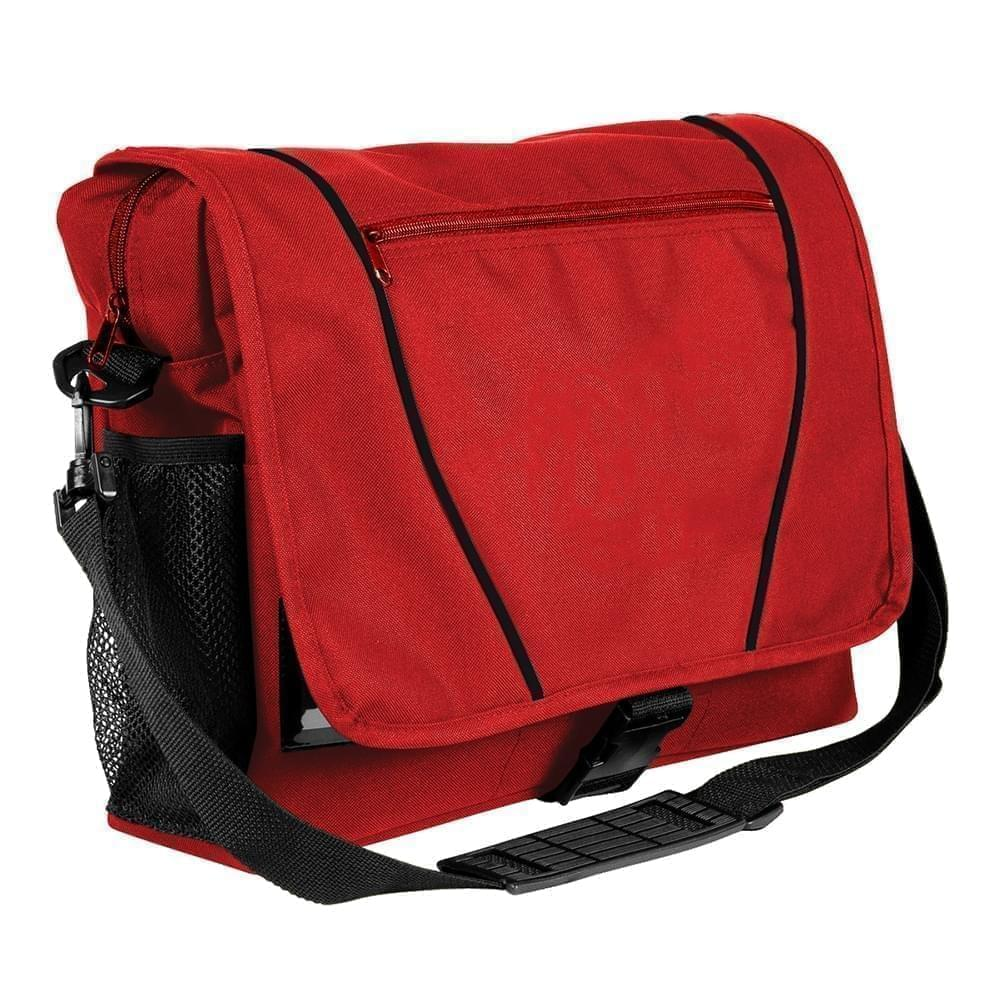 USA Made Nylon Poly Shoulder Bike Bags, Red-Black, 9001197-AZR