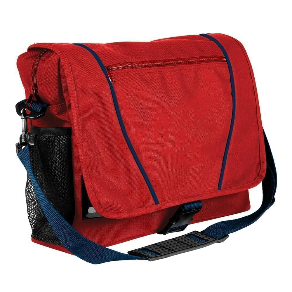 USA Made Nylon Poly Shoulder Bike Bags, Red-Navy, 9001197-AZZ