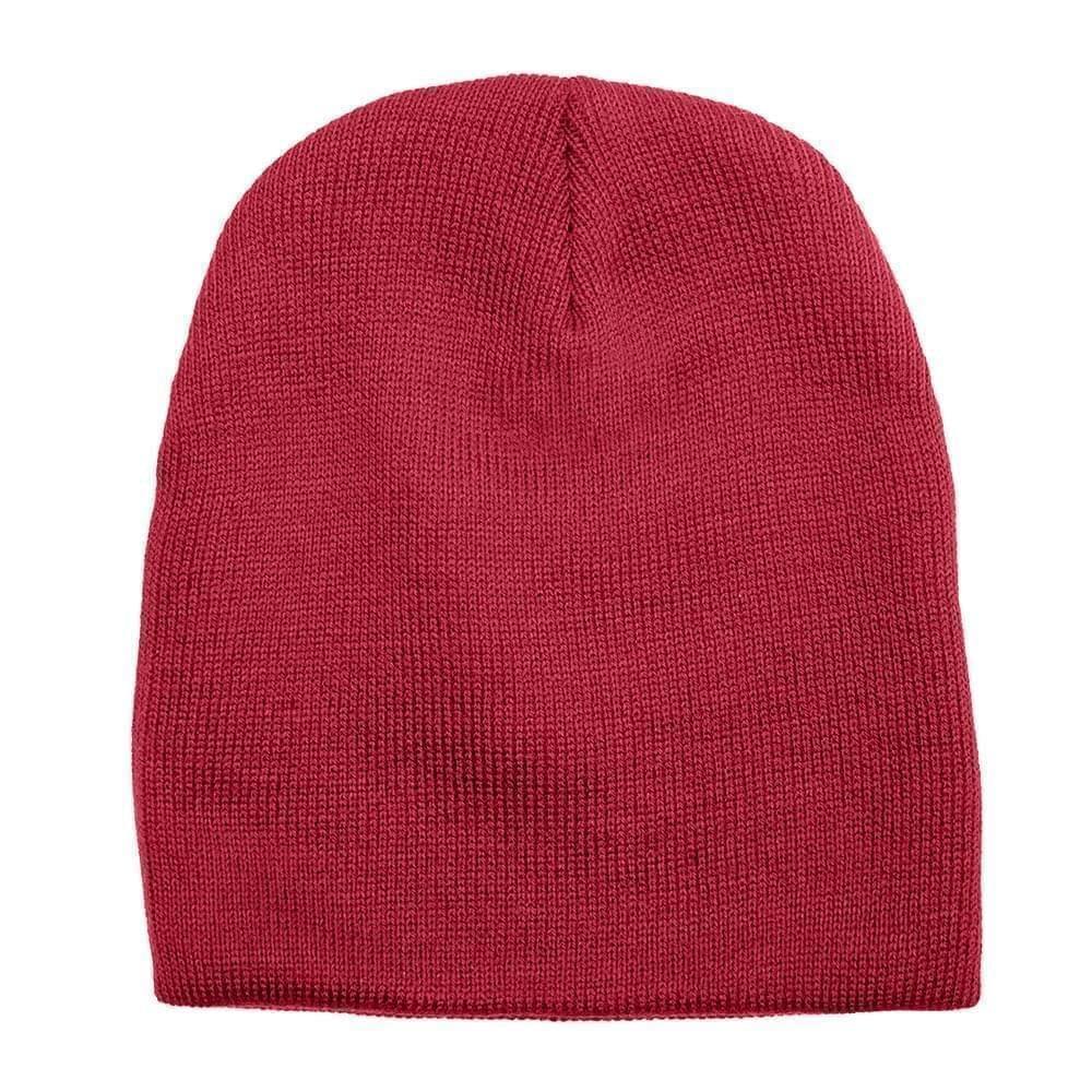 USA Made Knit Beanie Dark Red,  99B17685-DRD