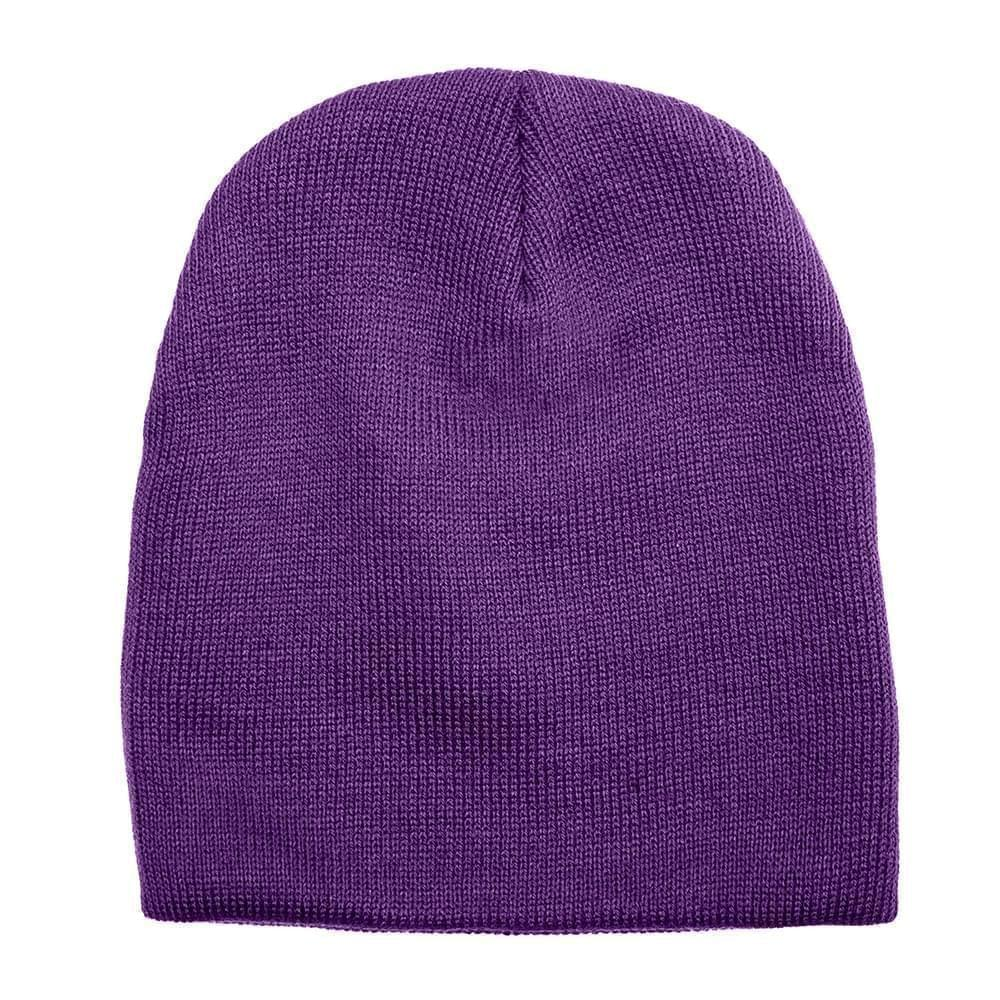 USA Made Knit Beanie Purple,  99B17685-PRP