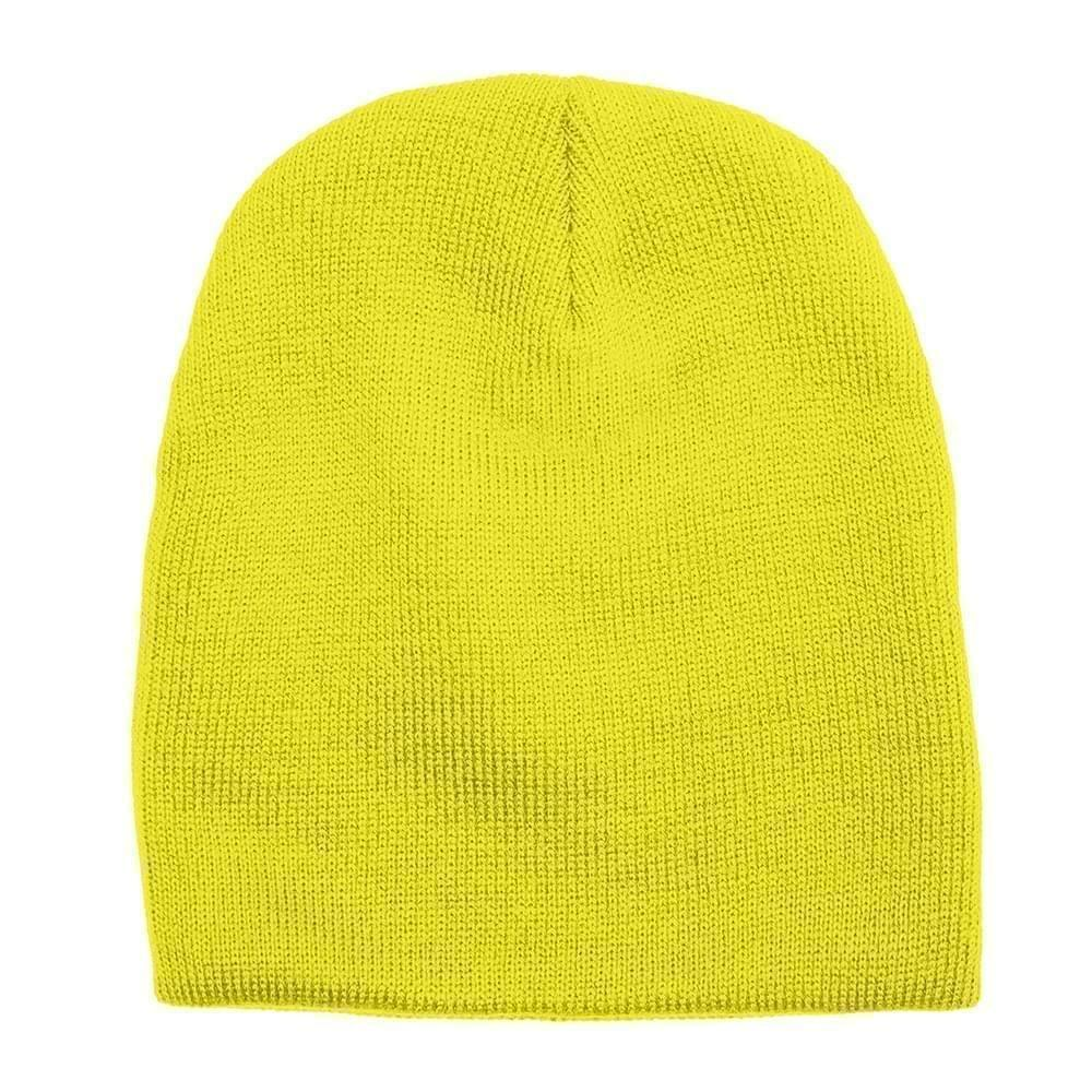 USA Made Knit Beanie Safety Yellow,  99B17685-SYL