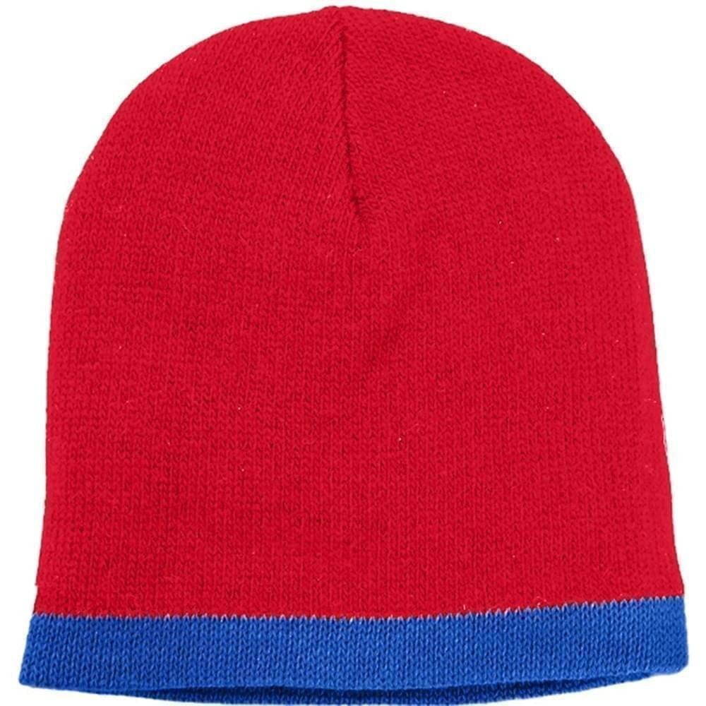 USA Made Knit Stripe Beanie Red Royal,  99B824-RED-ROY