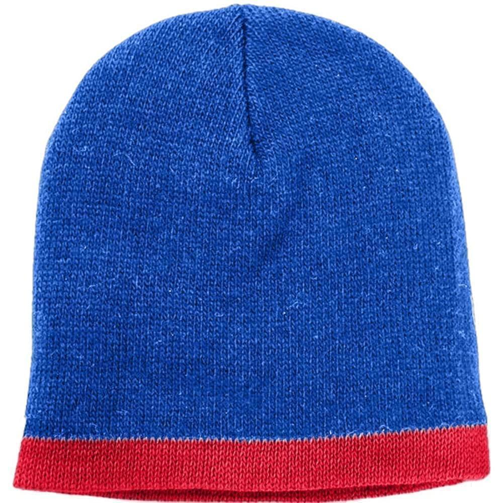 USA Made Knit Stripe Beanie Royal Red,  99B824-ROY-RED