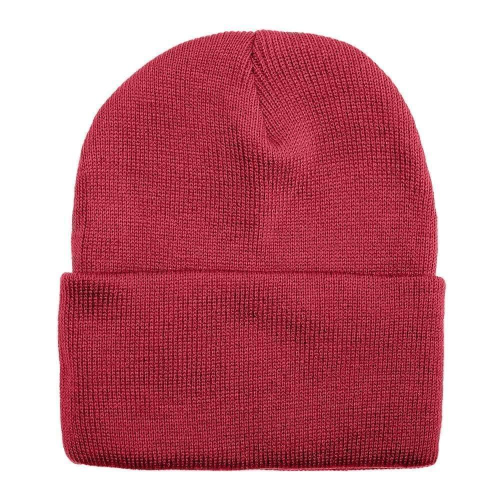 USA Made Solid Knit Ski Hat Dark Red,  99C176-DRD