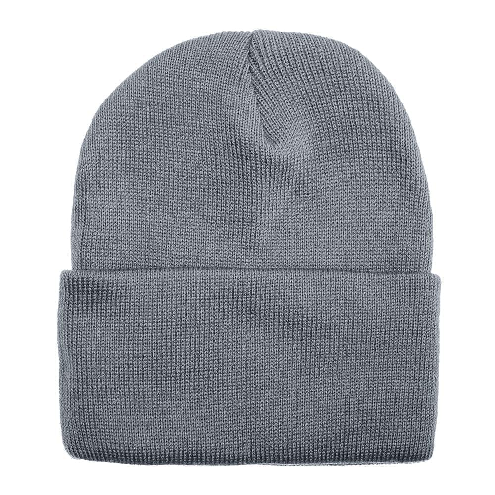 USA Made Solid Knit Ski Hat Grey,  99C176-GRY