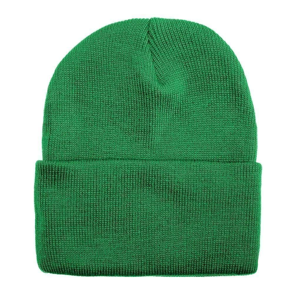USA Made Solid Knit Ski Hat Kelly Green,  99C176-KGR