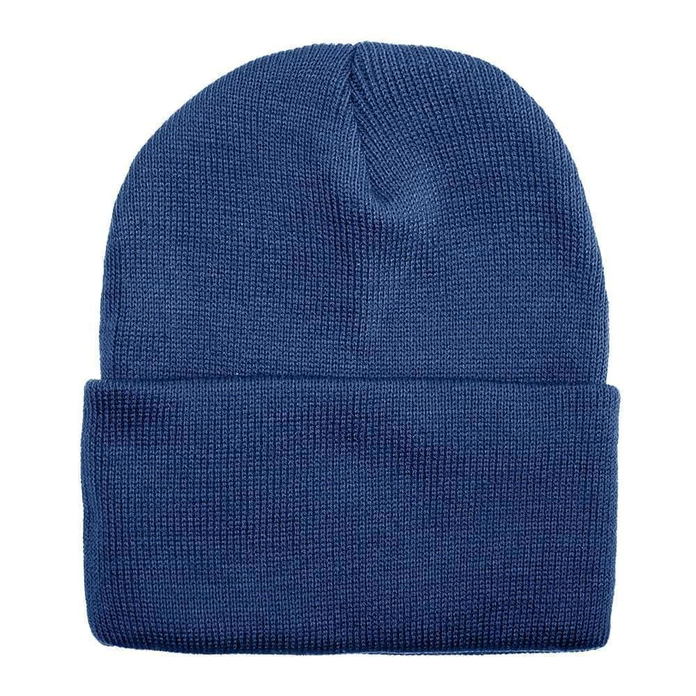 USA Made Solid Knit Ski Hat Navy,  99C176-NVY