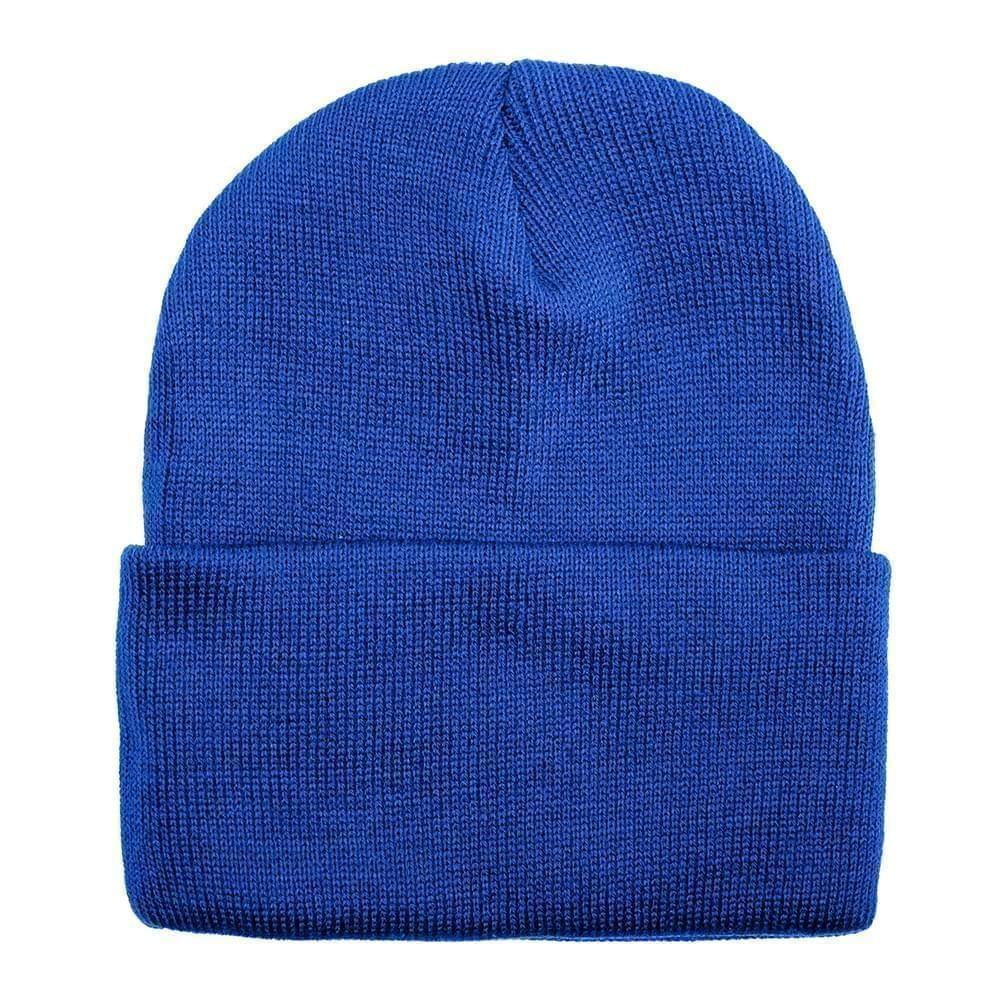 USA Made Solid Knit Ski Hat Royal,  99C176-ROY