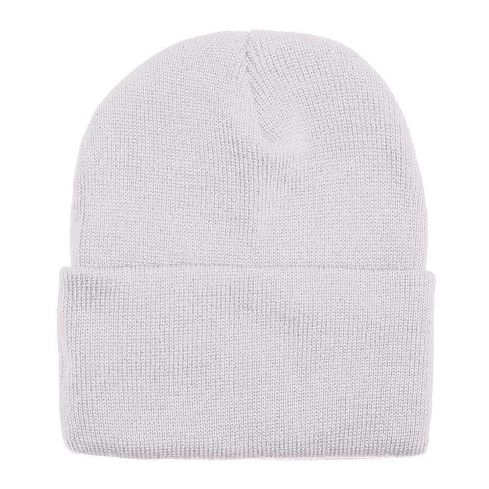 USA Made Solid Knit Ski Hat White,  99C176-WHT