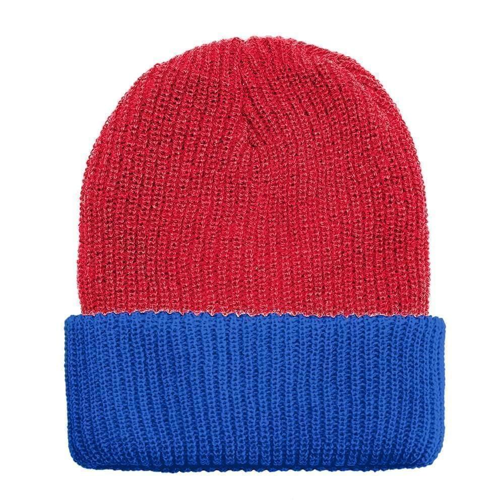 USA Made Knit Cuff Hat Red Royal,  99C244-RED-ROY