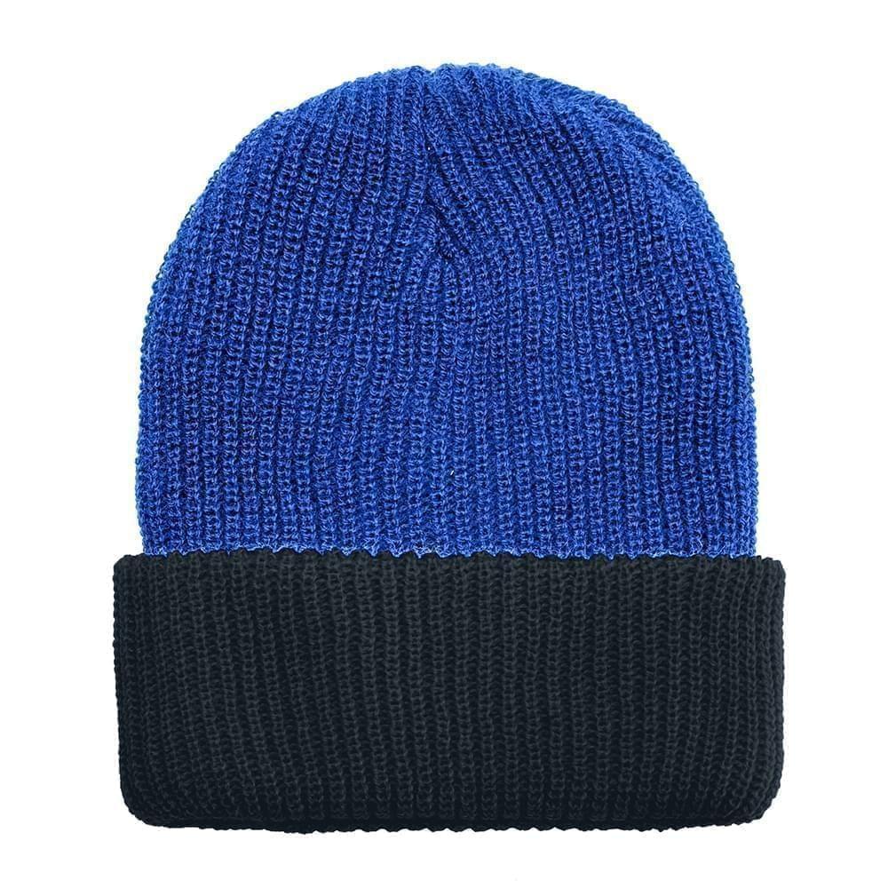 USA Made Knit Cuff Hat Royal Black,  99C244-ROY-BLK