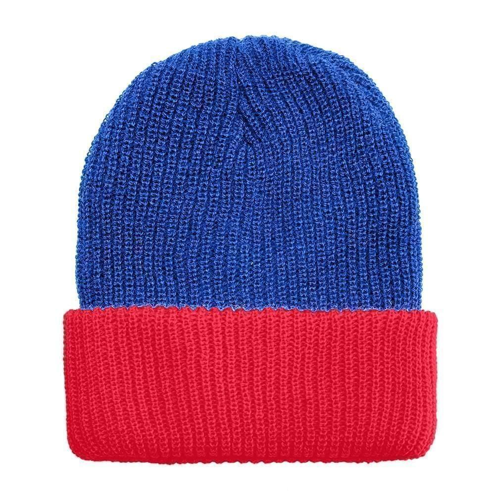 USA Made Knit Cuff Hat Royal Red,  99C244-ROY-RED