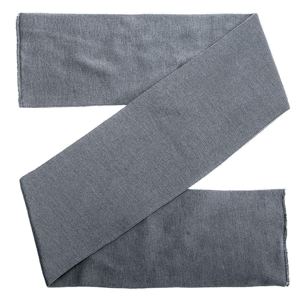 USA Made Knit 8 Inch Scarf Grey,  99S608-GRY