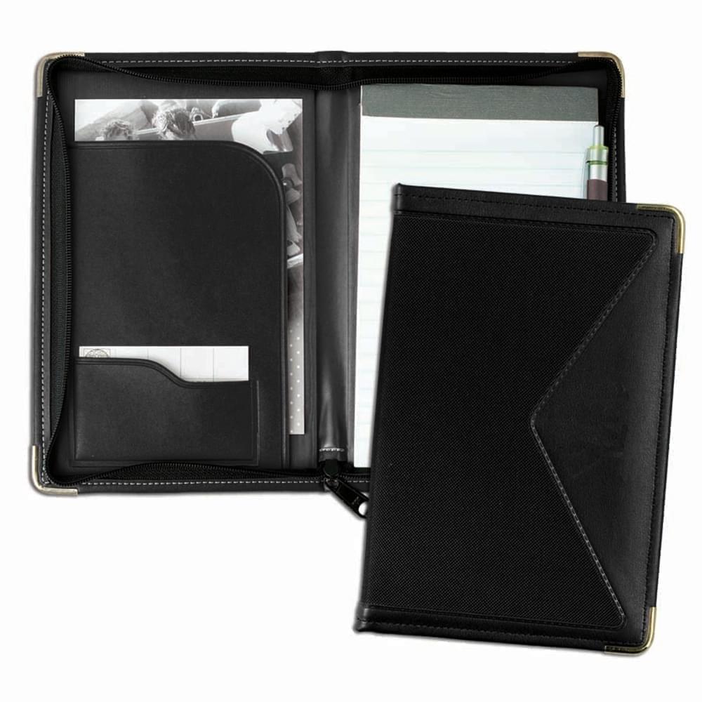 Edge Junior Zipper Folder-Matte-Black / Black