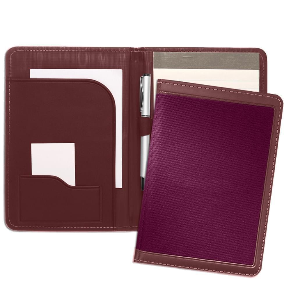 Edge Embroidered Junior Folder-Matte-Burgundy / Burgundy