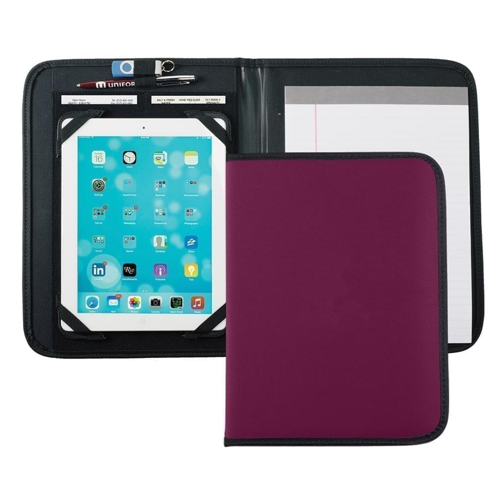 Tribeca Tablet Folio-Nylon-Burgundy