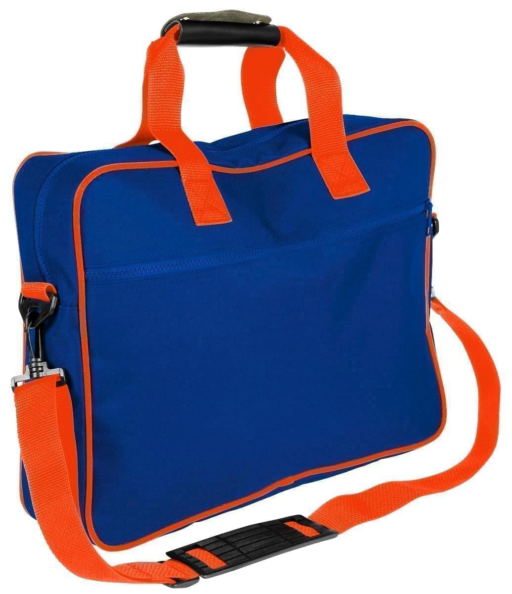 USA Made Nylon Poly Notebook Sleeves, Royal Blue-Orange, CPKVA59P00