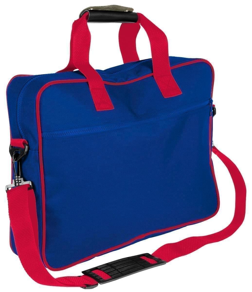 USA Made Nylon Poly Notebook Sleeves, Royal Blue-Red, CPKVA59P02