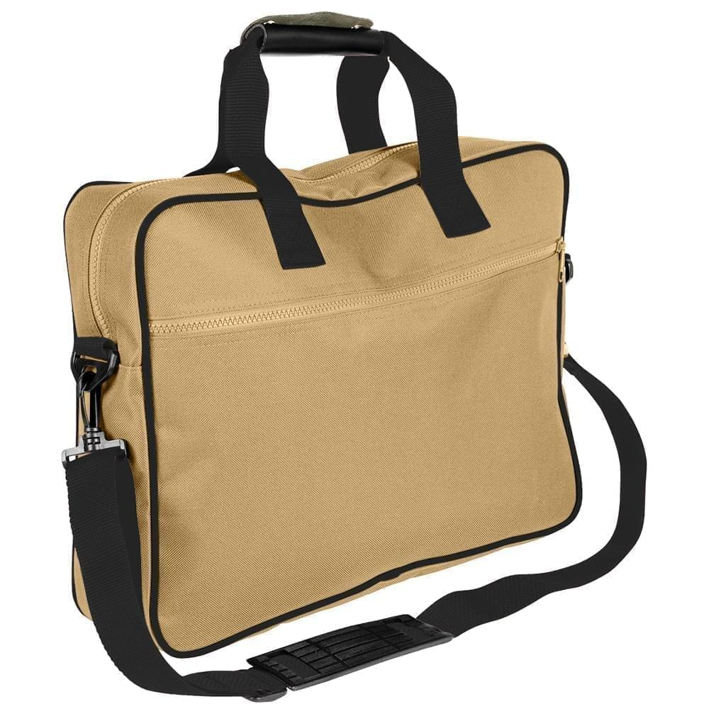 USA Made Nylon Poly Notebook Sleeves, Khaki-Black, CPKVA59P2R