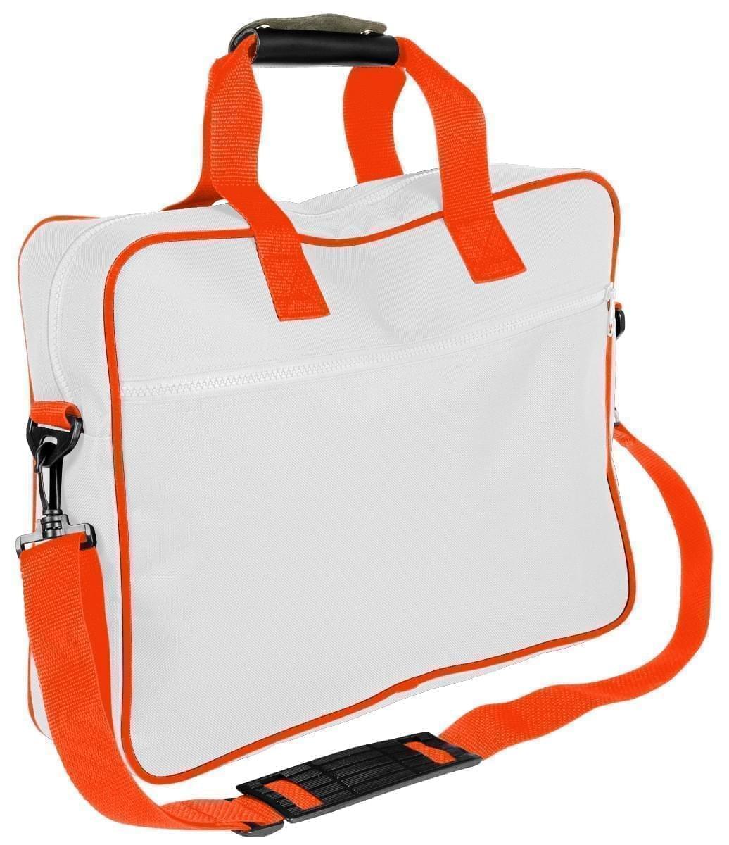 USA Made Nylon Poly Notebook Sleeves, White-Orange, CPKVA59P30