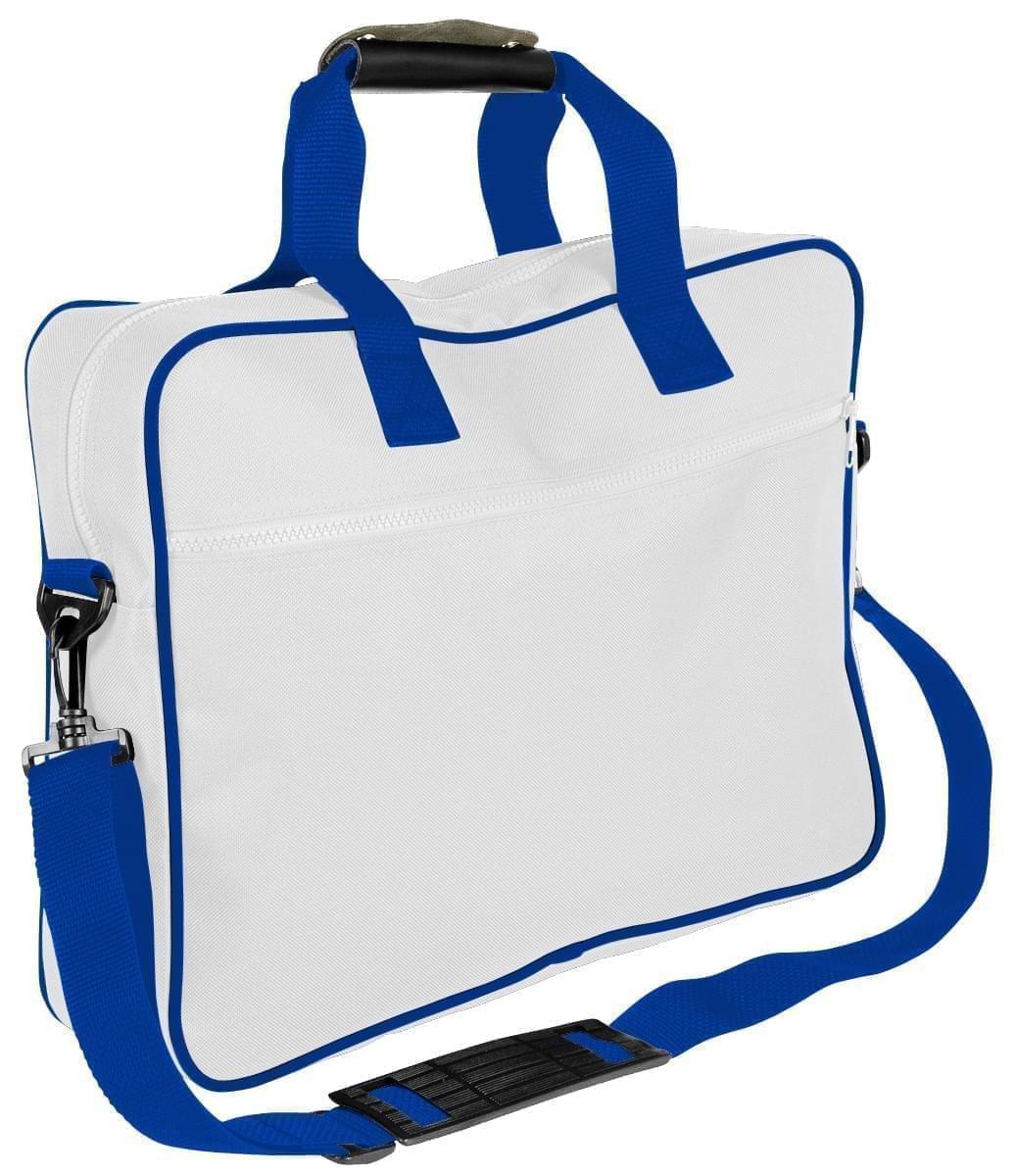 USA Made Nylon Poly Notebook Sleeves, White-Royal Blue, CPKVA59P33