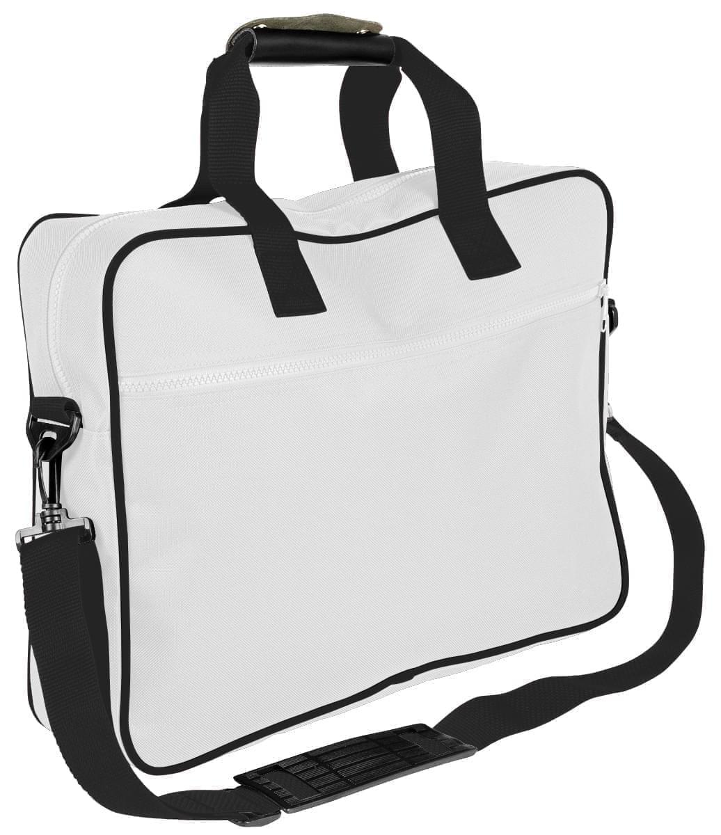 USA Made Nylon Poly Notebook Sleeves, White-Black, CPKVA59P3R