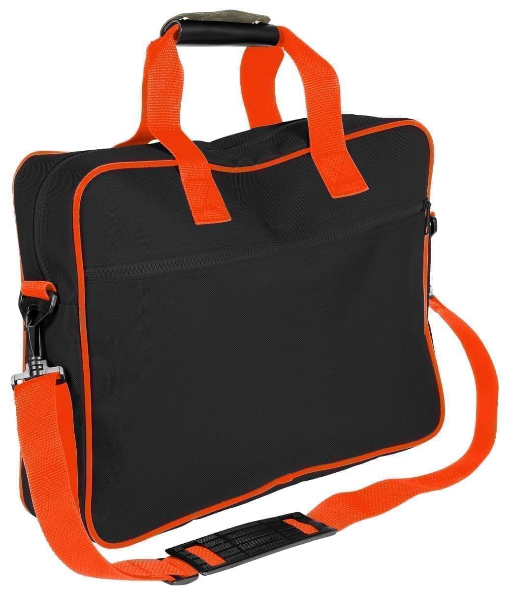 USA Made Nylon Poly Notebook Sleeves, Black-Orange, CPKVA59PO0