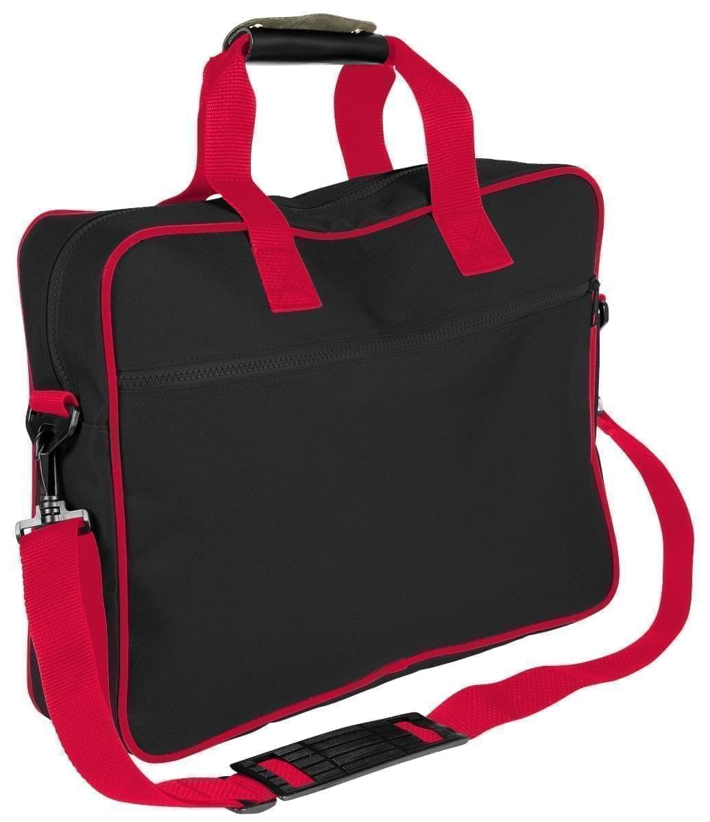 USA Made Nylon Poly Notebook Sleeves, Black-Red, CPKVA59PO2