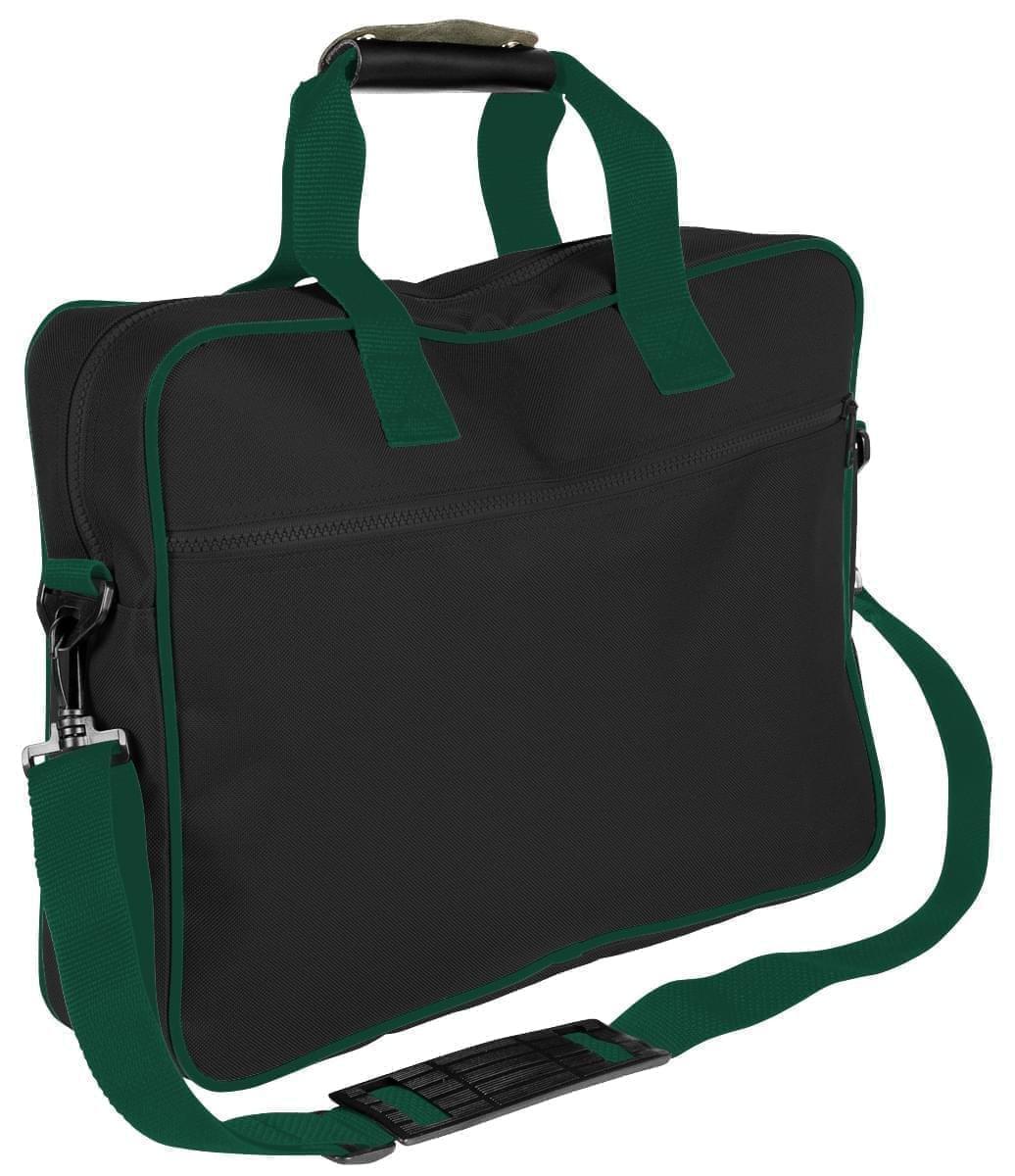 USA Made Nylon Poly Notebook Sleeves, Black-Hunter Green, CPKVA59POV