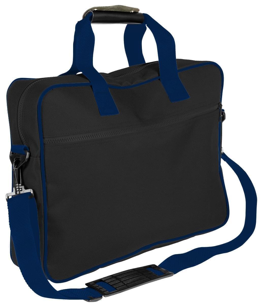 USA Made Nylon Poly Notebook Sleeves, Black-Navy, CPKVA59POZ