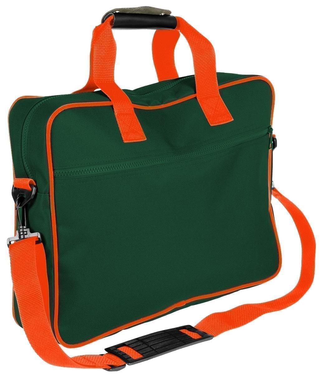 USA Made Nylon Poly Notebook Sleeves, Hunter Green-Orange, CPKVA59PS0