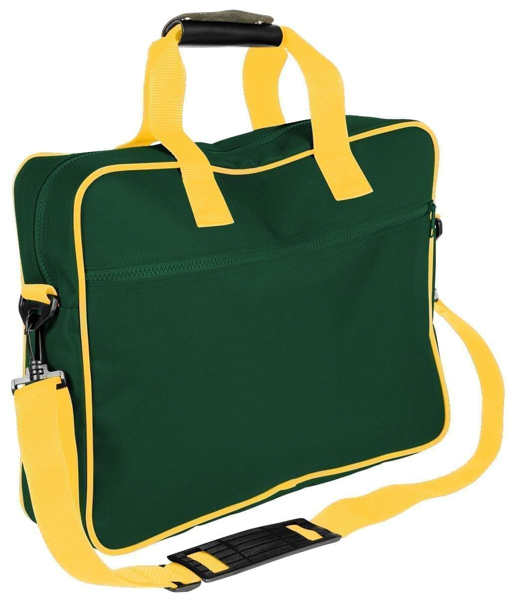 USA Made Nylon Poly Notebook Sleeves, Hunter Green-Gold, CPKVA59PS5