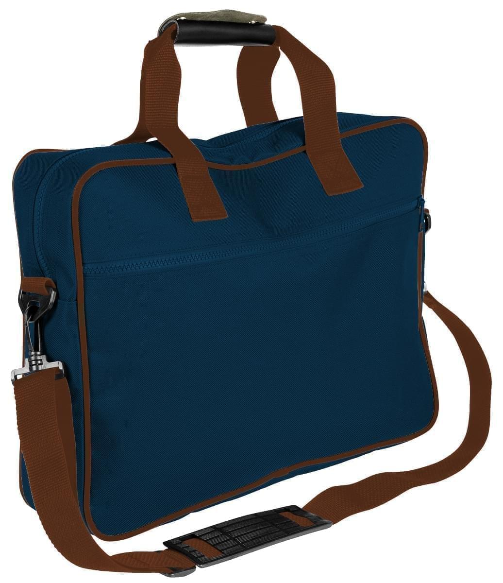 USA Made Nylon Poly Notebook Sleeves, Navy-Brown, CPKVA59PWS