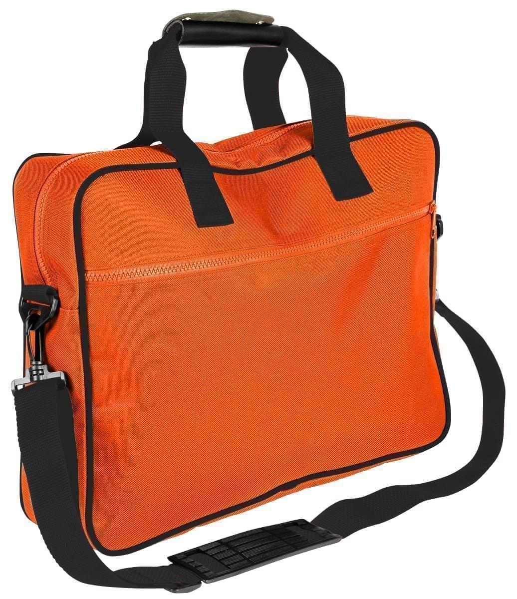 USA Made Nylon Poly Notebook Sleeves, Orange-Black, CPKVA59PXR