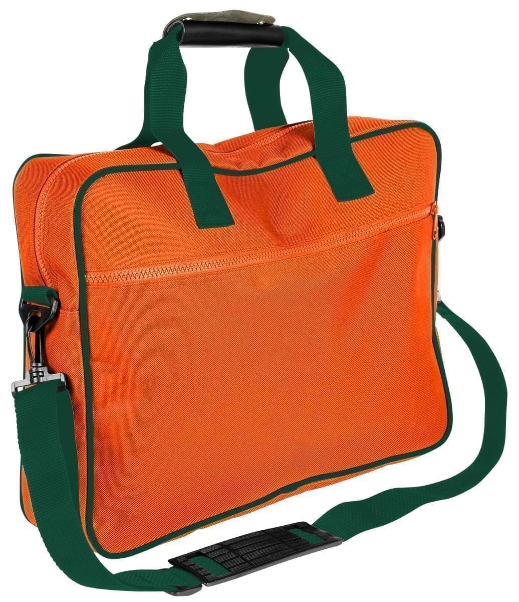 USA Made Nylon Poly Notebook Sleeves, Orange-Hunter Green, CPKVA59PXV