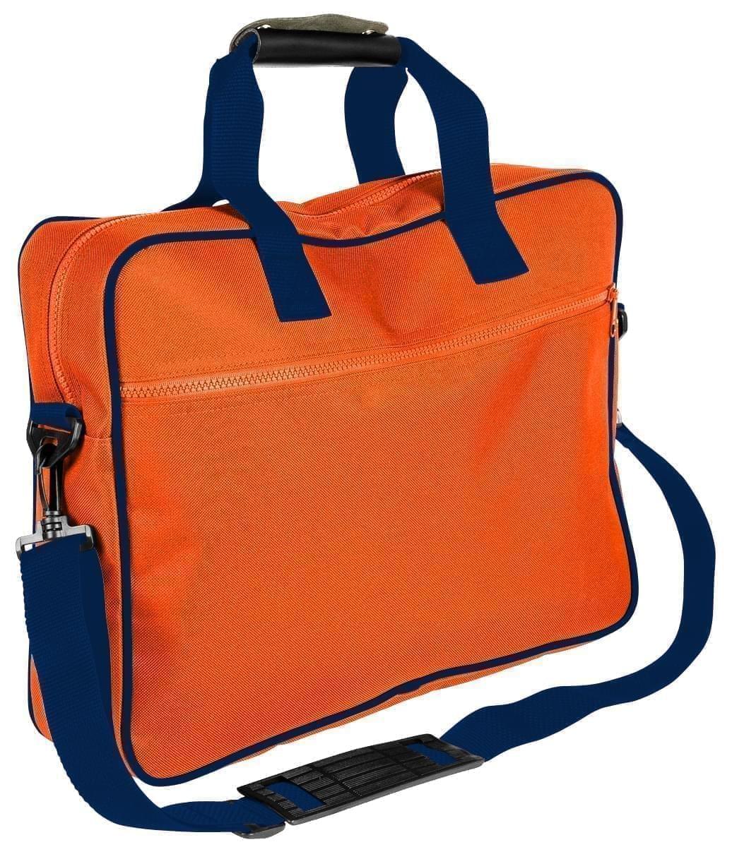 USA Made Nylon Poly Notebook Sleeves, Orange-Navy, CPKVA59PXZ