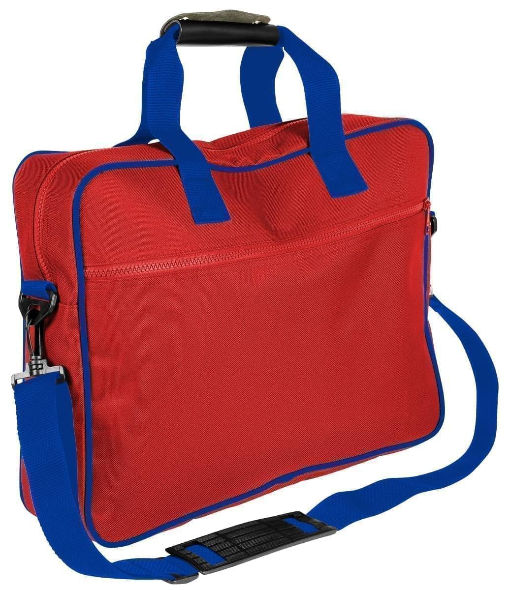 USA Made Nylon Poly Notebook Sleeves, Red-Royal Blue, CPKVA59PZ3