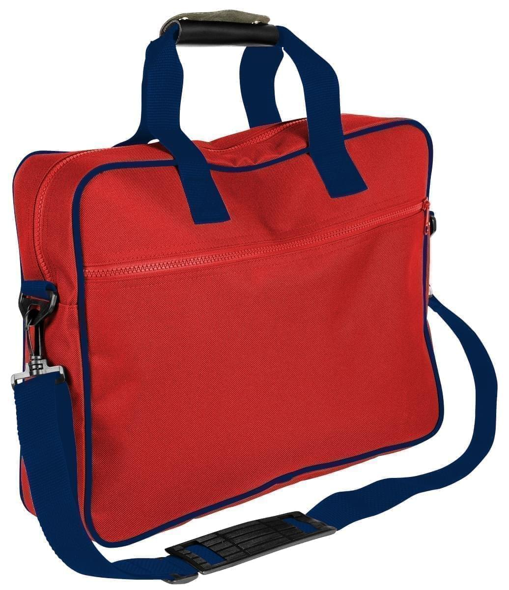 USA Made Nylon Poly Notebook Sleeves, Red-Navy, CPKVA59PZZ