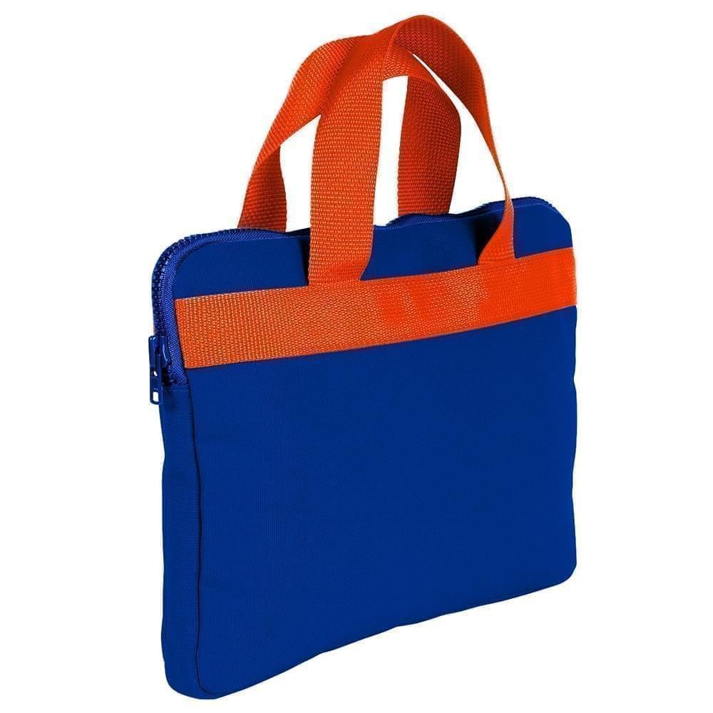 USA Made Nylon Poly Business Cases, Royal Blue-Orange, DJAV319P00