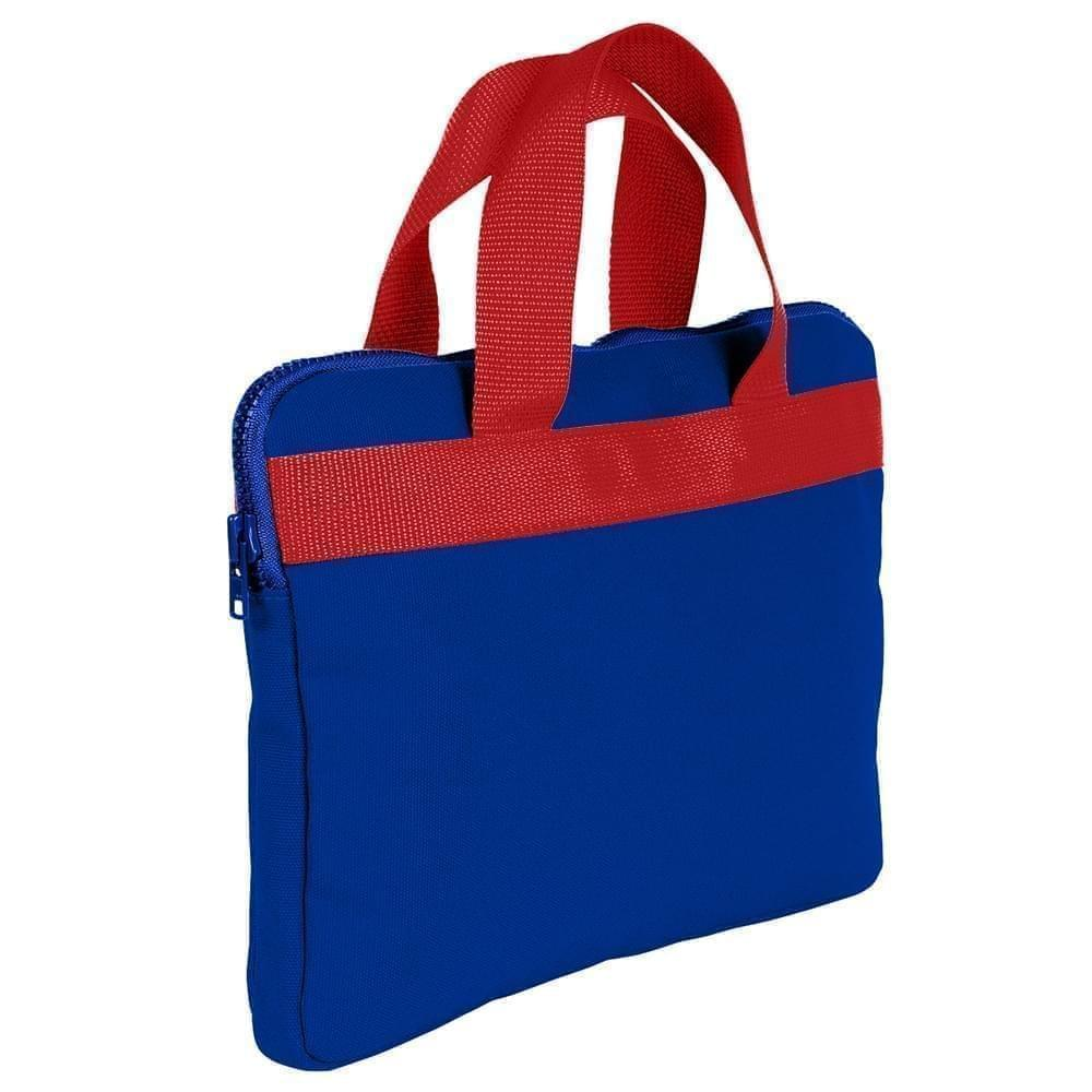 USA Made Nylon Poly Business Cases, Royal Blue-Red, DJAV319P02