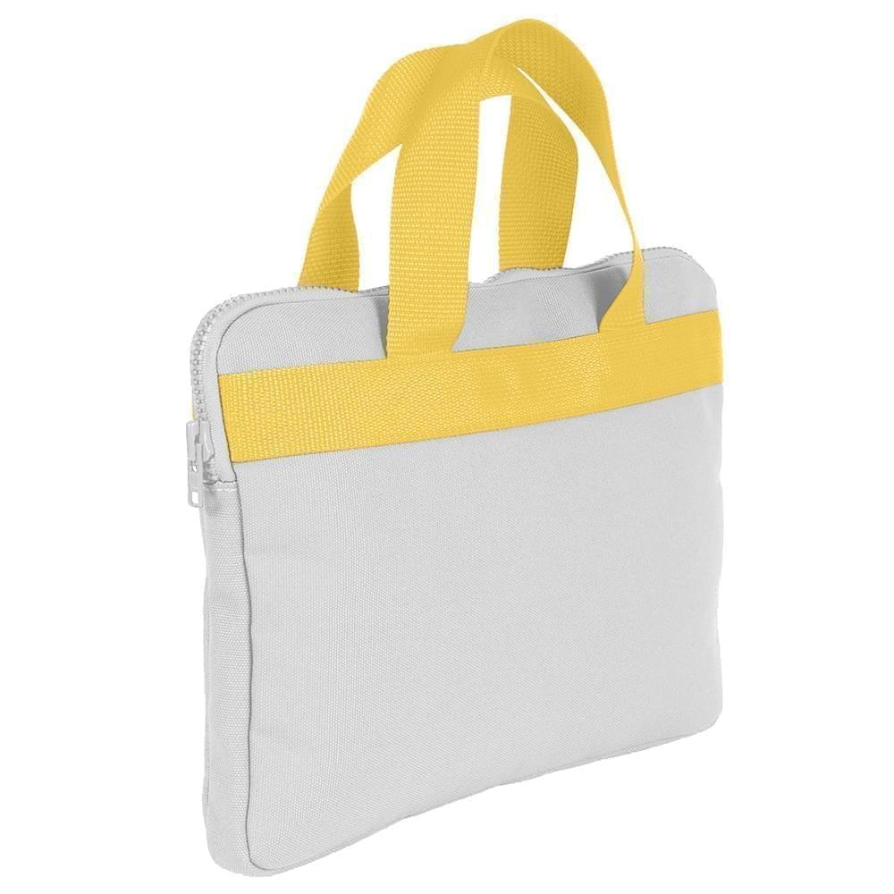 USA Made Nylon Poly Business Cases, White-Gold, DJAV319P35