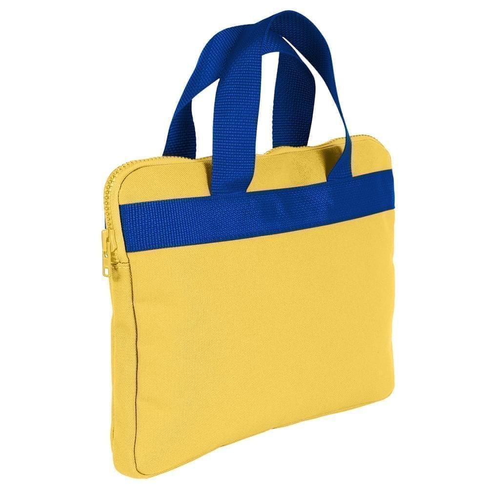 USA Made Nylon Poly Business Cases, Gold-Royal Blue, DJAV319P43