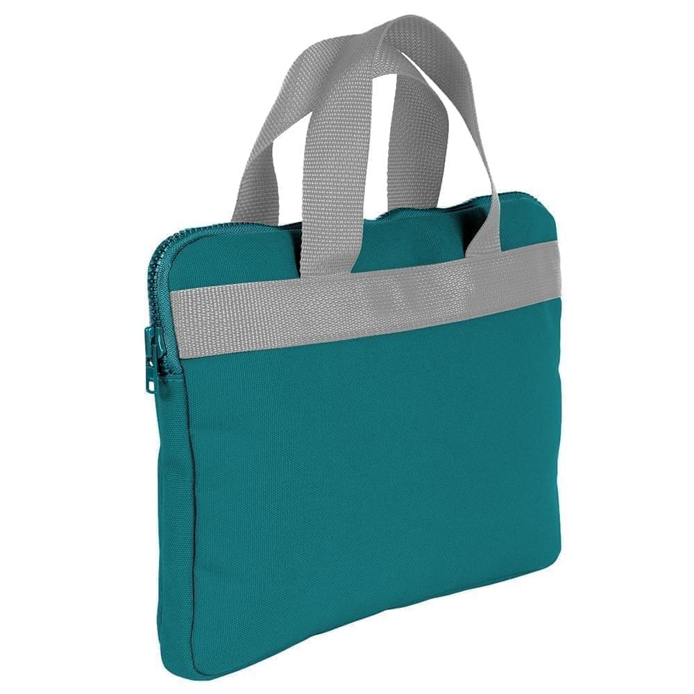 USA Made Nylon Poly Business Cases, Turquoise-Grey, DJAV319P9U