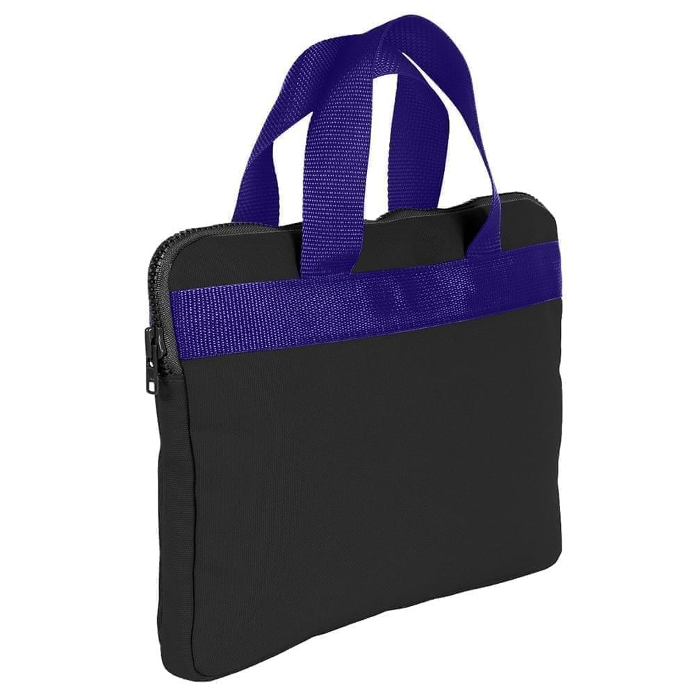 USA Made Nylon Poly Business Cases, Black-Purple, DJAV319PO1