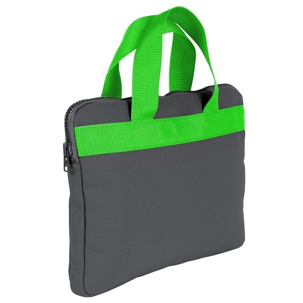 USA Made Nylon Poly Business Cases, Graphite-Lime, DJAV319PRY