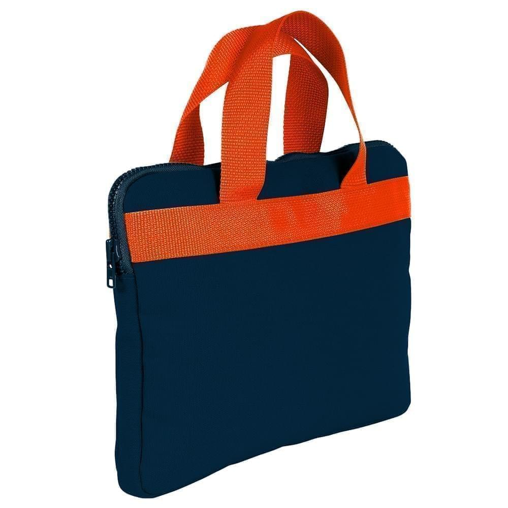 USA Made Nylon Poly Business Cases, Navy-Orange, DJAV319PW0